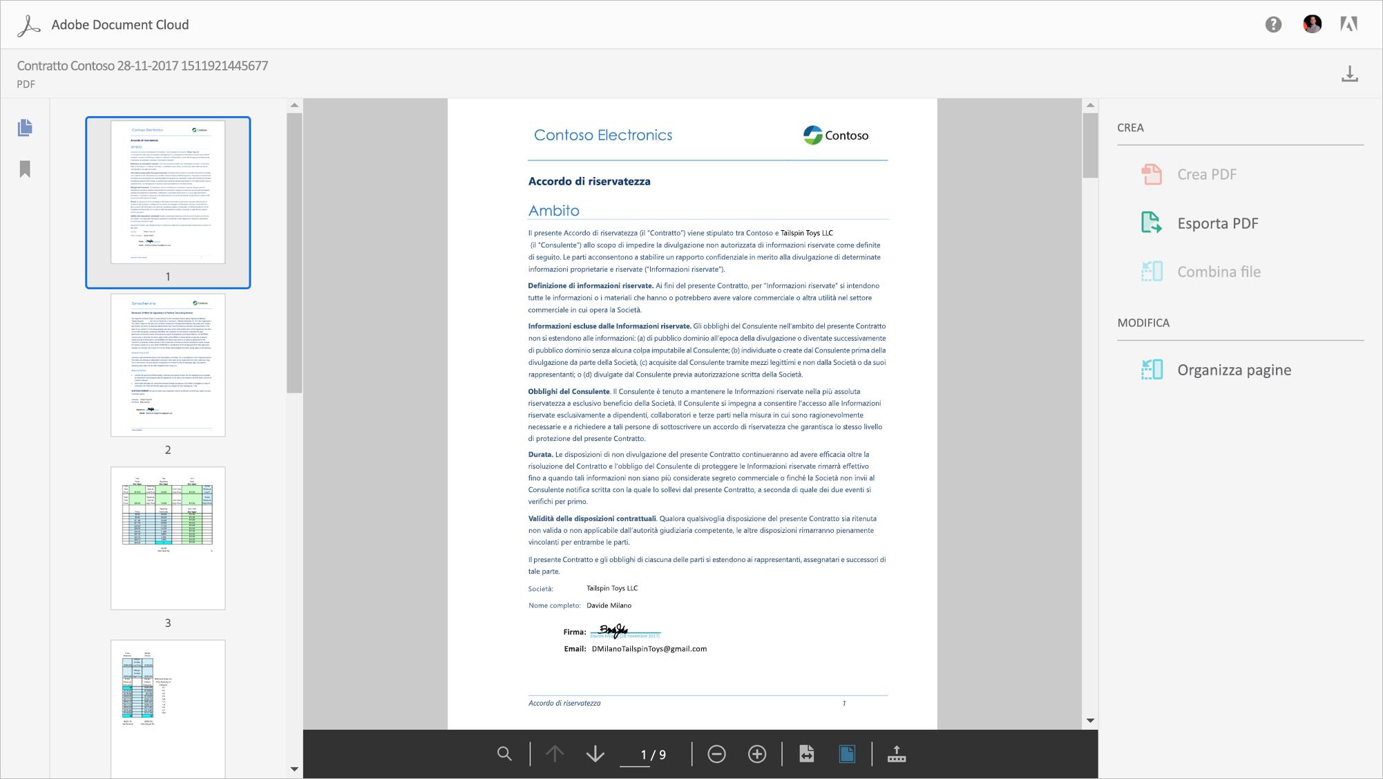 Gli aggiornamenti di Adobe Document Cloud introducono servizi PDF integrati in Office 365