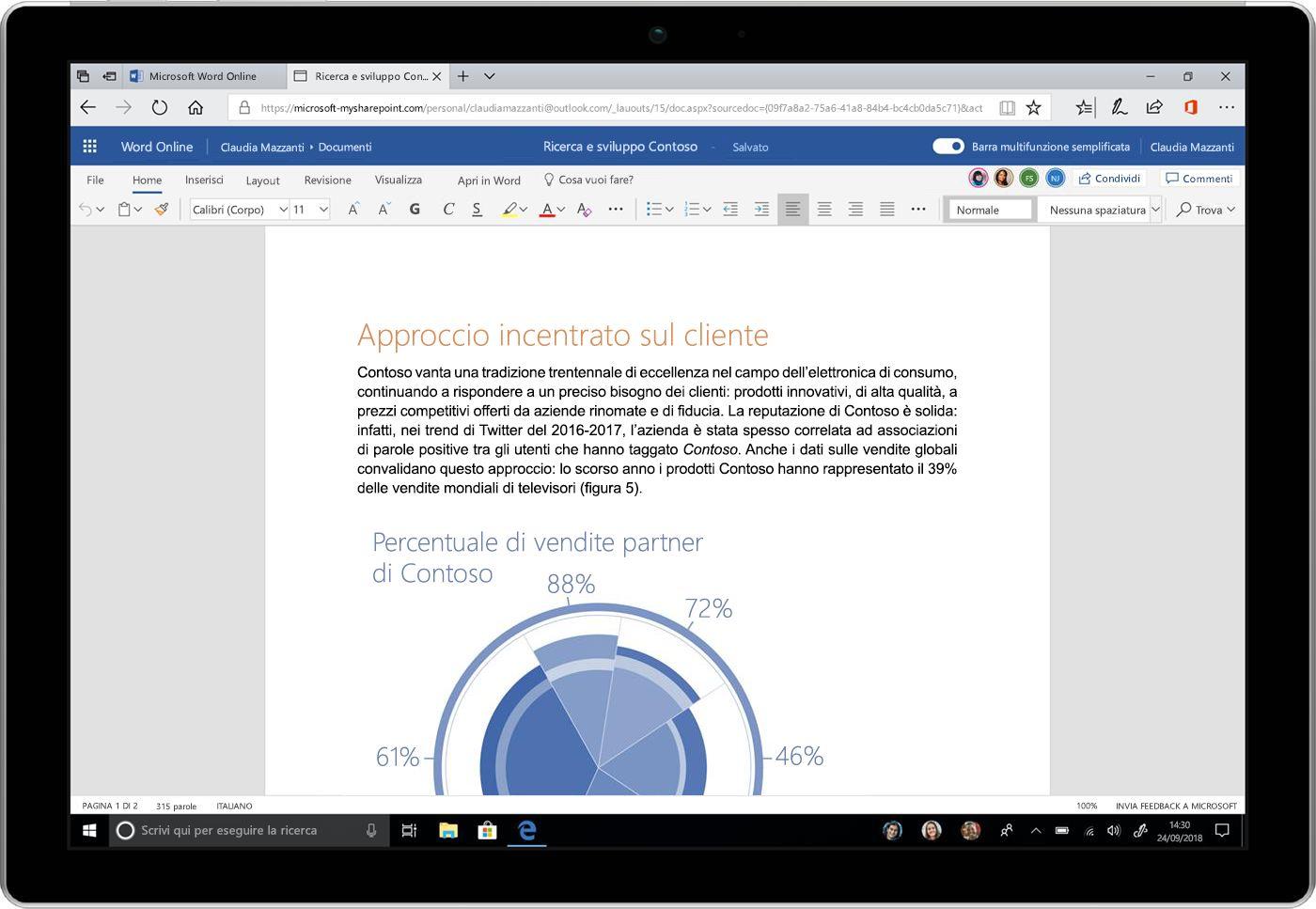 Potenza e semplicità: aggiornamenti dell'esperienza utente di Office 365