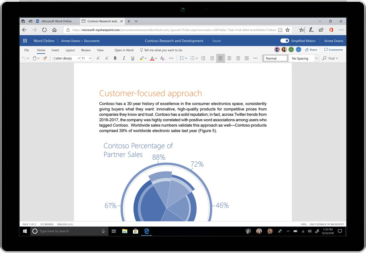 Power and simplicity—updates to the Office 365 user experience