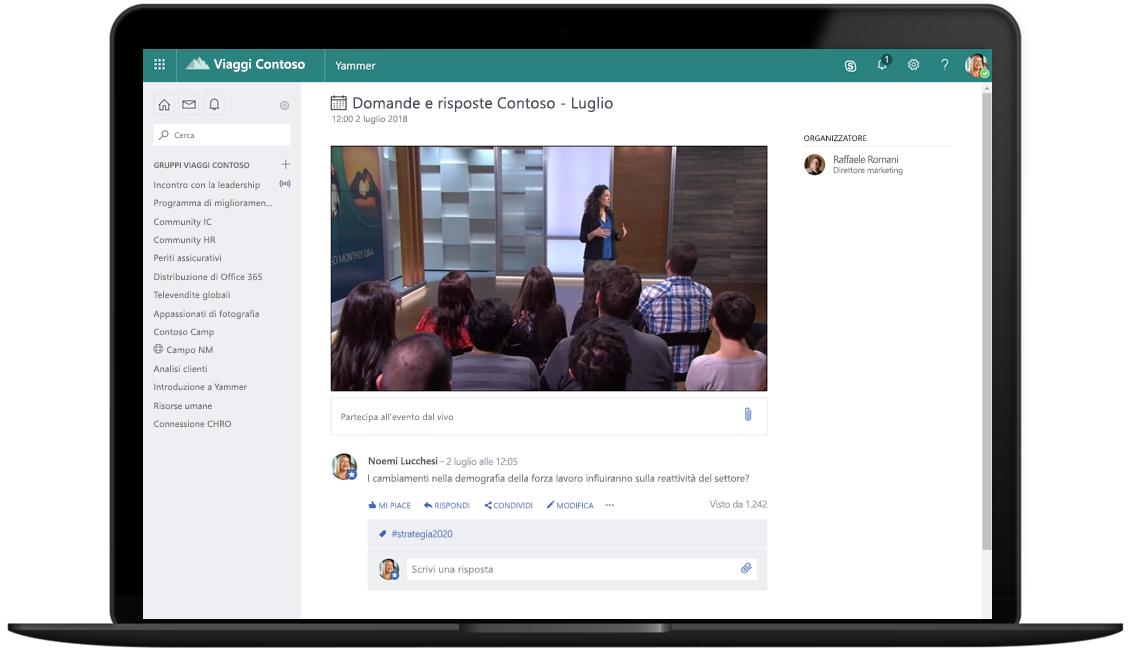 4 suggerimenti per coinvolgere i dipendenti con nuovi eventi live in Microsoft 365