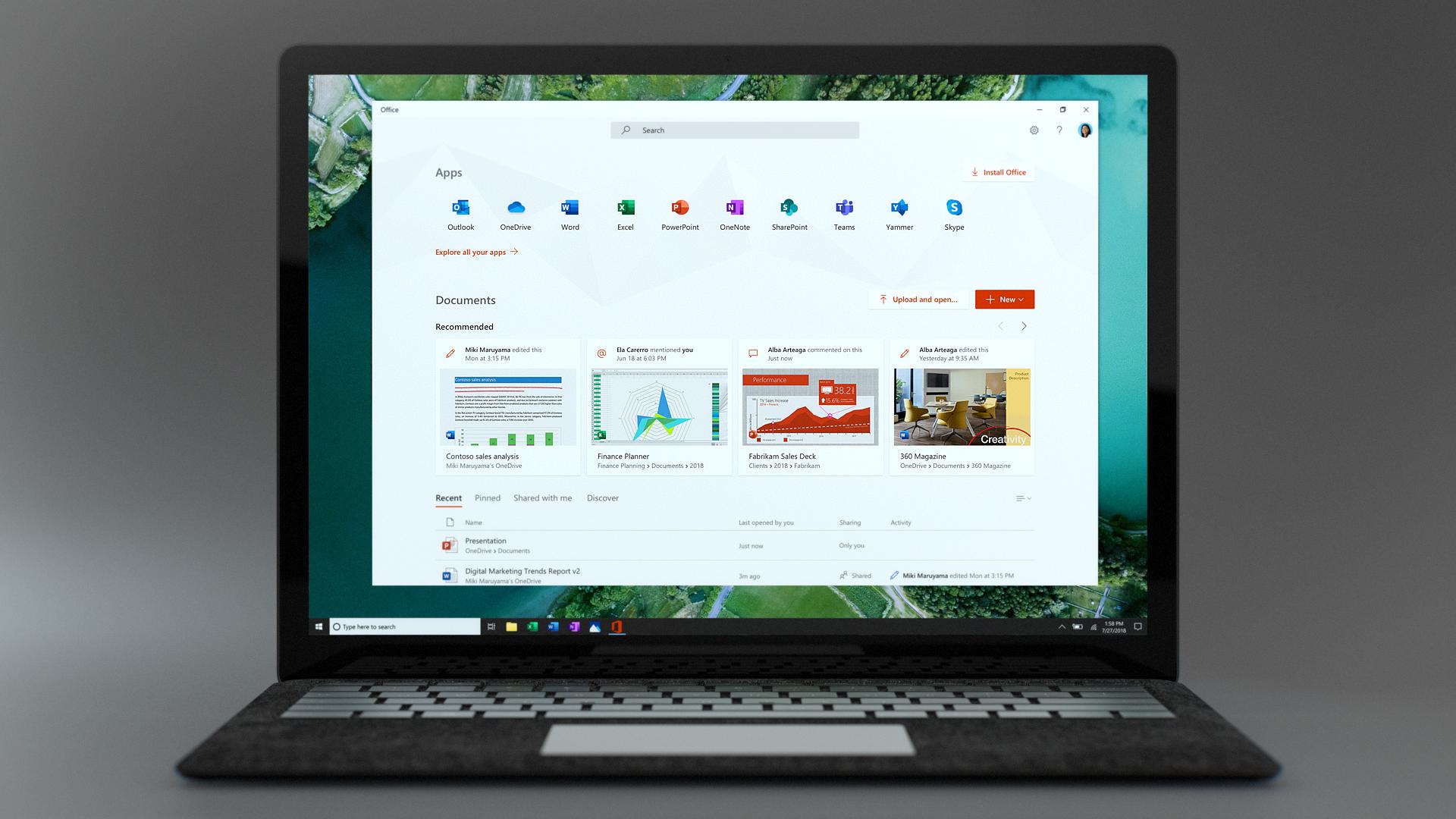 Introduzione all'app Office per Windows 10