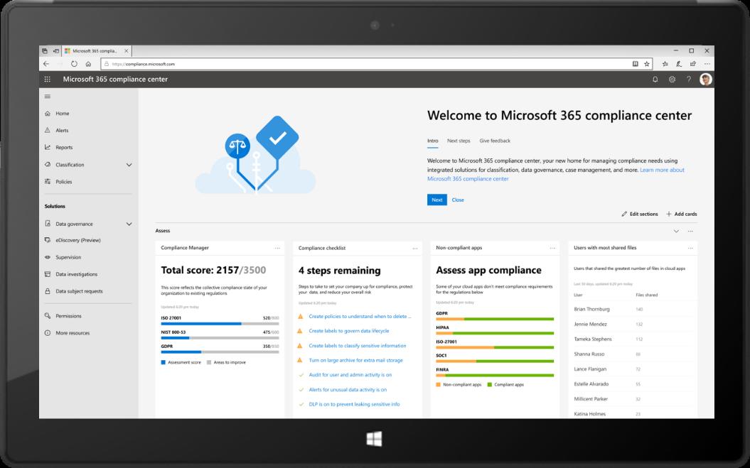 Novità di Microsoft 365 a gennaio: aggiornamenti relativi a conformità, produttività e Microsoft Teams che consentono di passare a un'area di lavoro moderna