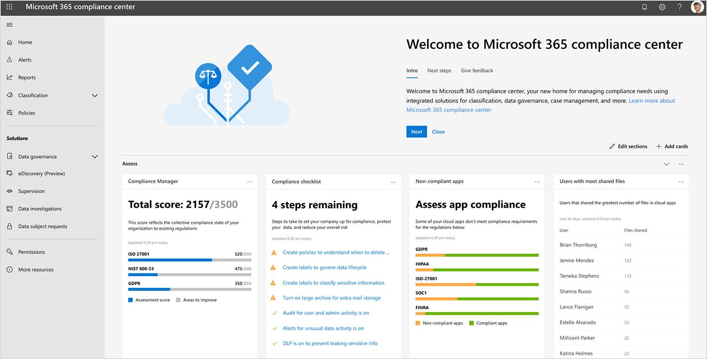 Introduzione di nuove funzionalità in Microsoft 365 utili per prepararsi alla nuova ondata di normative sulla privacy