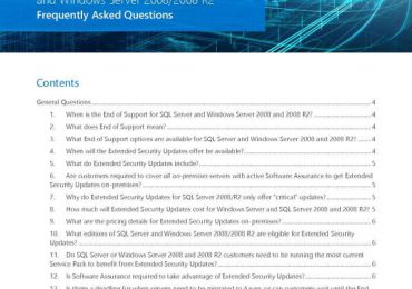 WS + SQL 2008 Extended Security Updates FAQ