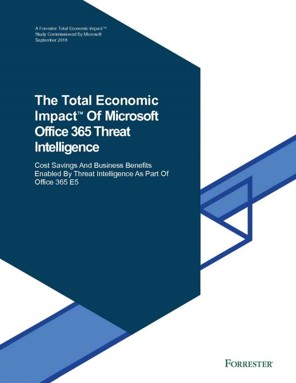 The total economic impact of Microsoft Office 365 threat intelligence