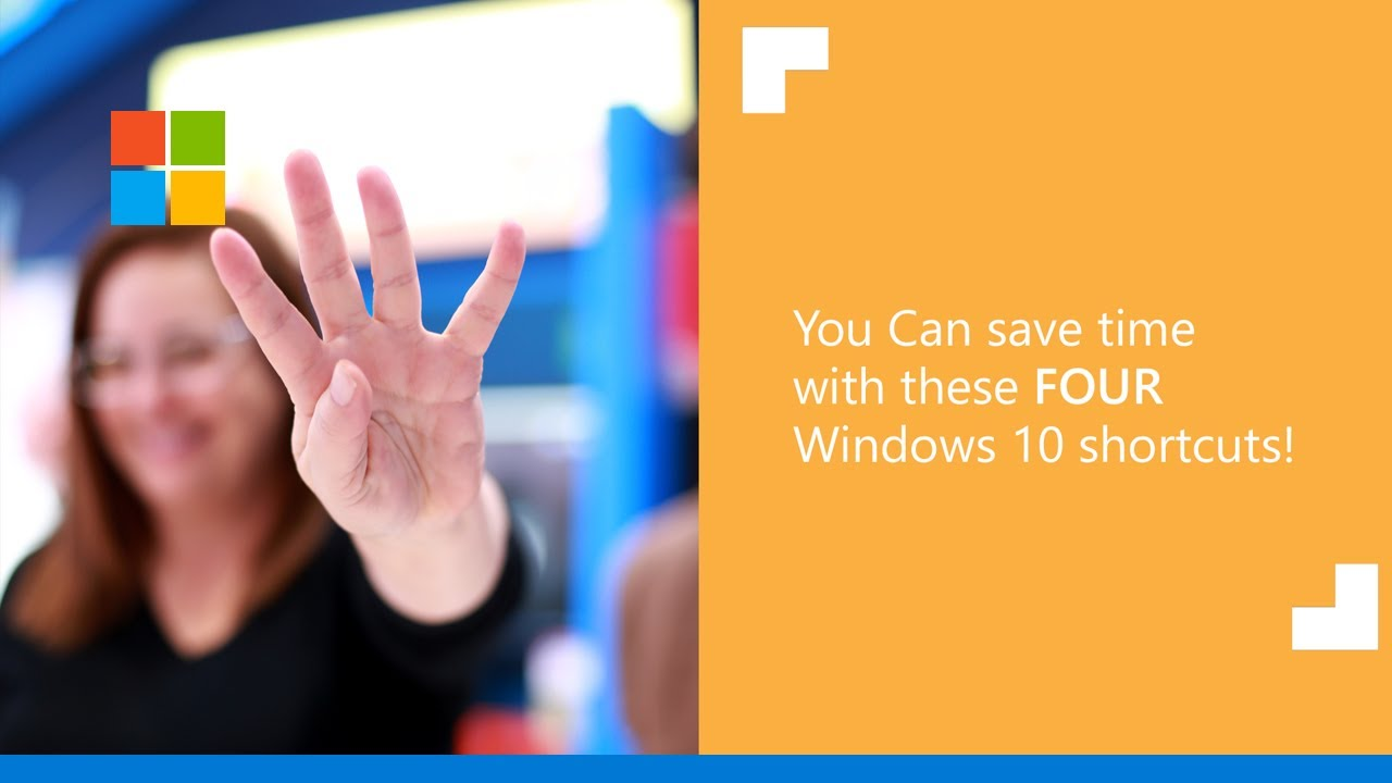 Use these 4 keyboard shortcuts in Windows 10!