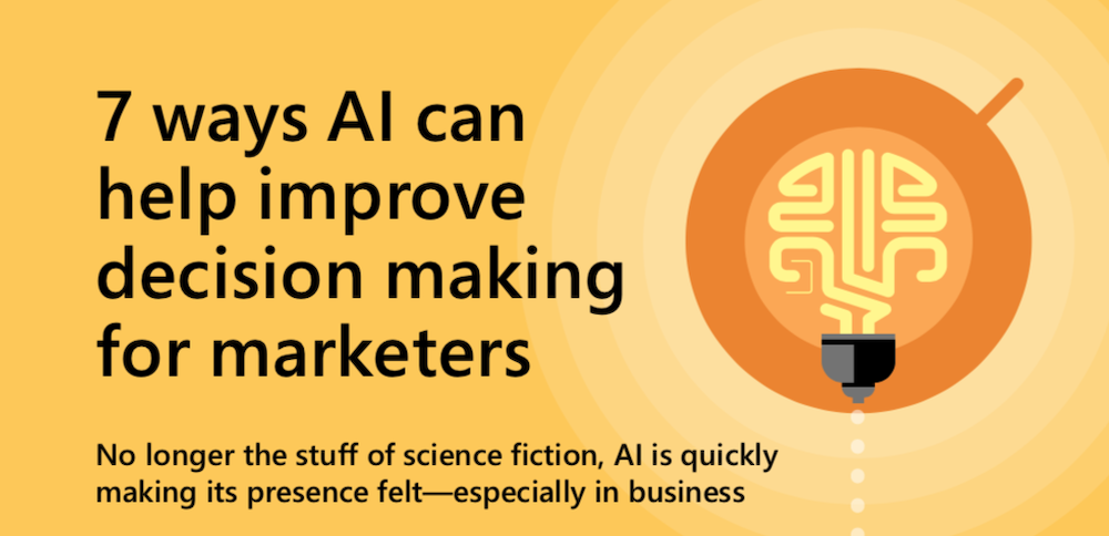 7 ways AI can help improve decision making for marketers