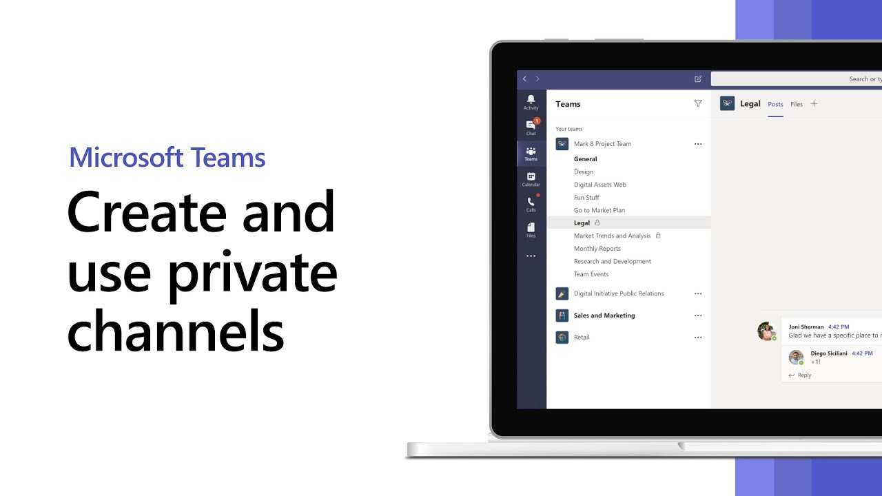 Create and use private channels in Microsoft Teams