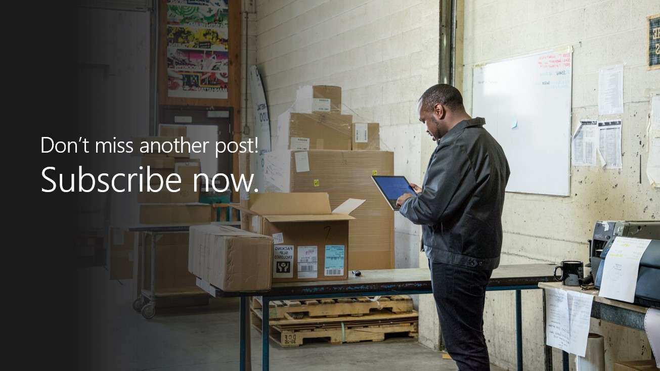 Never miss a post—never miss an opportunity. Subscribe today.