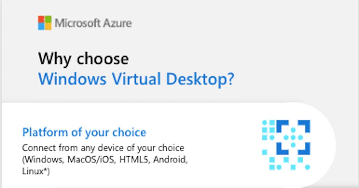 Why Windows Virtual Desktop