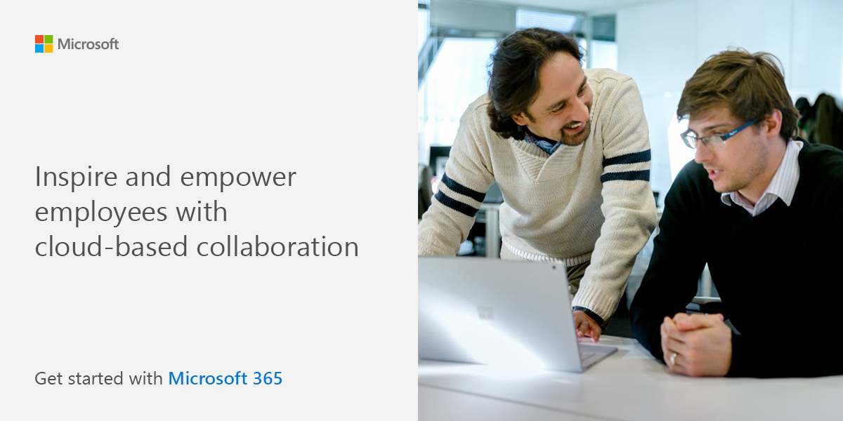 Inspire and empower employees with cloud-based collaboration. Get started with Microsoft 365.