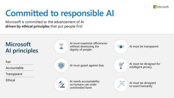 Analytics and AI Microsoft Principles