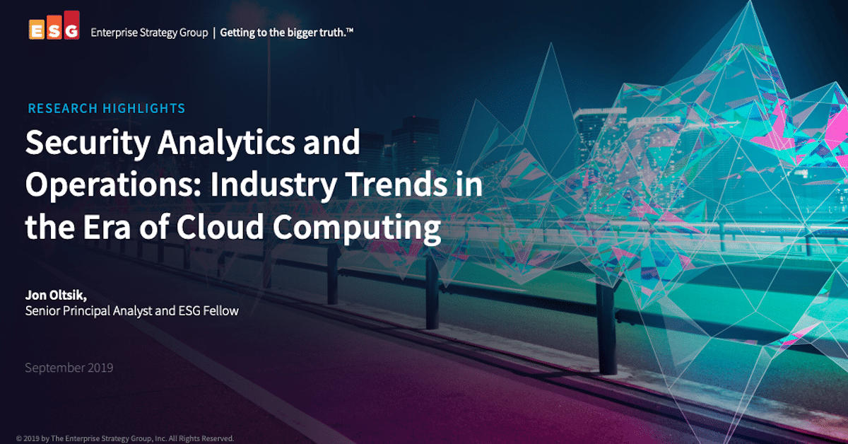 Security Analytics and Operations: Industry Trends in the Era of Cloud Computing
